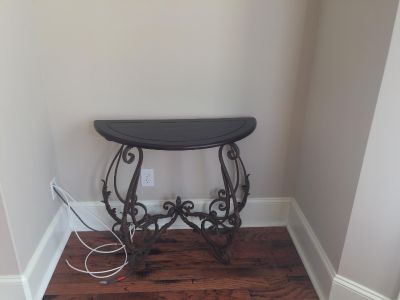 Wood/Wrought Iron Table