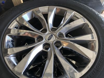 Ford 20inch chrome rims and tires