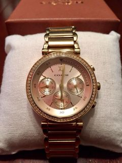 Coach Women's Sport 1941 Rose Gold Stainless Chronograph Watch