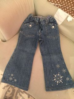 Gymboree jeans with snowflake size 3