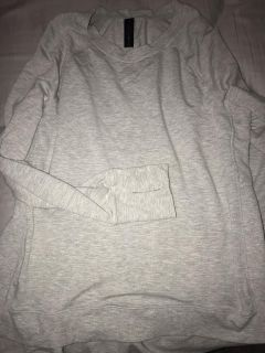 Grey sweater with thumb holes