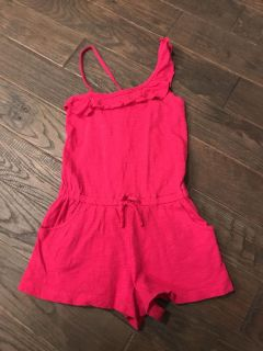Crazy 8 hot pink romper size small(5-6). Great cond. $4