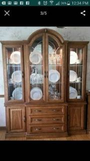 FREE! Beautiful Etched Glass Hutch and Server (Glen Ellyn)