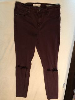 Maroon jeans high rise skinniest