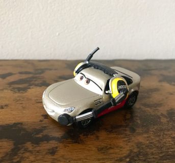 Disney Die Cast Racing Sports Network Car with Headset and Microphone. Slide on picture to see additional pictures