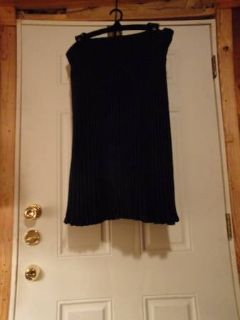 #OFCC WOMENS ANGORA BLEND LINED SKIRT SUIT SIZE 14 NAVY BLUE