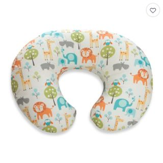 NEW-Boppy Infant Feeding/Support Pillow with Peaceful Jungle Slipcover