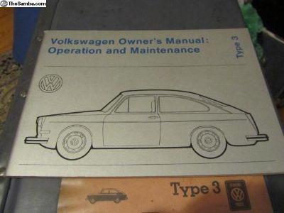Owner's Manual 1973Type3/PLUS:NOS