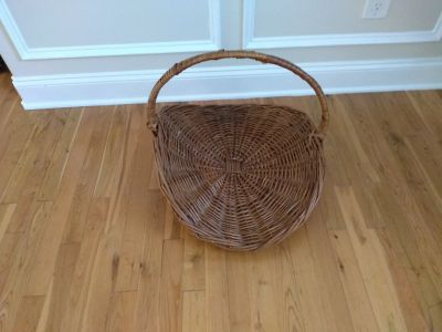 """Large basket measures 24"""" by 20"""" and 14"""" tall"""