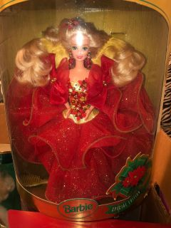 Holiday Barbies from the 90s
