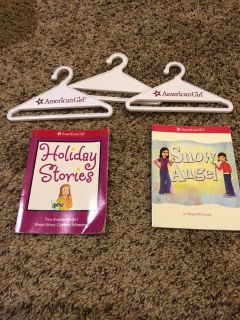 American Girl Doll hangers and books