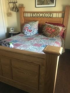 Queen bed frame