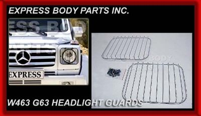 Sell G-WAGON G55 G550 G500 CHROME HEADLIGHT 09 STYLE GUARDS BARS FRONT W463 SUV BENZ motorcycle in North Hollywood, California, US, for US $129.00
