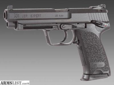 For Sale: HK USP .45 Expert Heckler & Koch Target/Competition Pistol (Factory Overhauled/Refurbished) with ammo