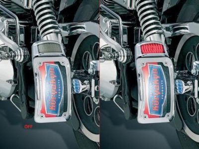 Purchase KURYAKYN LIGHTED CURVED VERTICAL SIDE MOUNT TAG FRAME W/ LIGHT 4 HARLEY DAVIDSON motorcycle in Gambrills, Maryland, US, for US $132.85