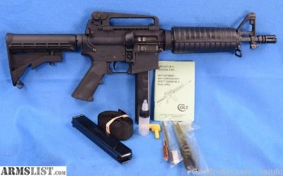 For Sale: Colt 9mm SBR LE6991
