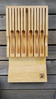 In drawer Henkel knife block