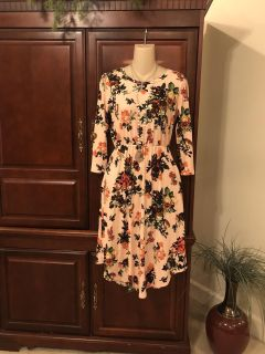 20.00 Like new size small boutique Reb & J. Gorgeous floral print dress. Add a jean jacket for a cute look