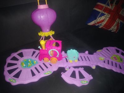 My Little Pony train and hot air balloon toys