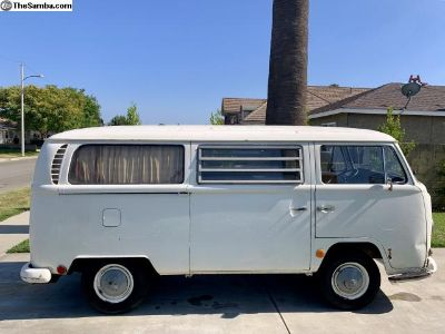 1968 VW Westfalia Tintop 1 Owner Black Plate