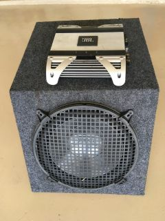 Subwoofer (Infinity) and amplifier (JBL)