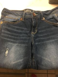 Girls Justice Distressed Boot Cut Jeans