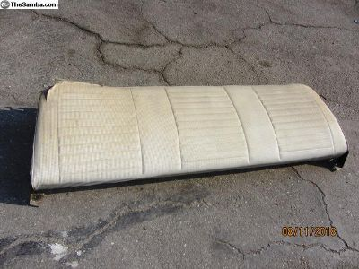 bus rear seat back section