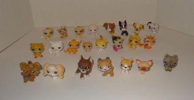 Littlest Pet Shop Lot of 23 Retired Pets (11 Cats & 12 Dogs) - LPS