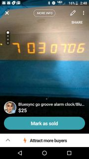 Bluesync go groove Bluetooth speaker/alarm clock