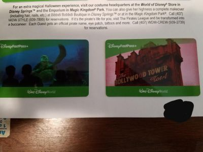 2 Tickets to Mickey's Not So Scary Halloween Party