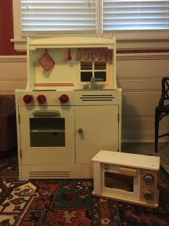 Land of Nod Play Kitchen (Tons of Accessories)
