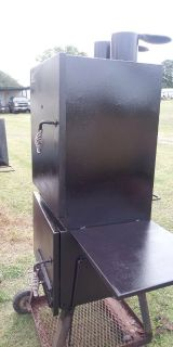 Old country bbq stand up smoker