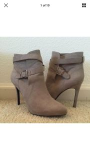 Forever 21 Gray Faux Suede Boots Size 8