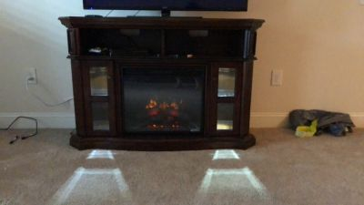 Electric fireplace/ 55 Tv stand