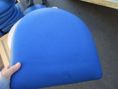 (48) Royal Blue Vinyl Restaurant Chair Cushions RTR#6121811-09