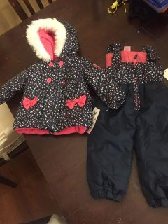 NWT 12 month coat and snow pants