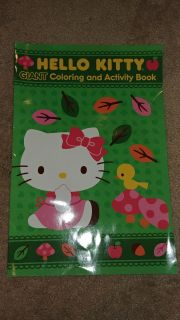 """NEW """"Giant"""" Page Hello Kitty Coloring & Activity Book"""