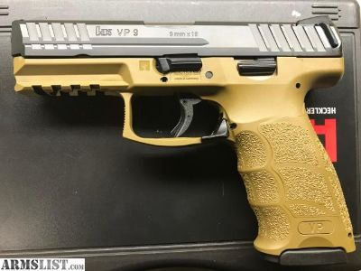 For Sale: Heckler & Koch VP9 HK 9mm FDE 10+1 H&K