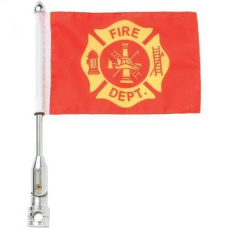 "Purchase 3pc 9"" x 6"" Polyester Motorcycle USA & FIRE DEPT FLAG With Pole Mount- All Bikes motorcycle in Dallas, Texas, United States, for US $18.99"