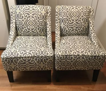 Two Ikat Arm Chairs