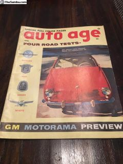 VW Karmann Ghia Lowlight Auto Age April 56
