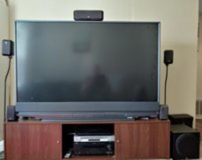 TV & Stand, sound system, Sony DVD player
