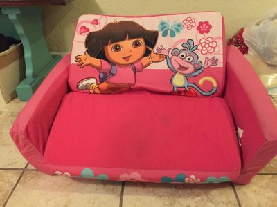 Free. Kid couch sleeper. Porch pickup attached blanket