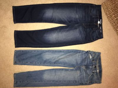 2 pairs of girls jeans size 7x