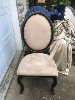 4 heavy solid wood chairs i have actually 8 if needed