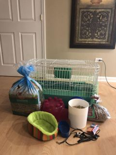Guinea Pig Cage Food, Hay and accessories
