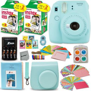$49.9 Instax Mini 9 Instant Camera (Ice Blue) + Film 50 pack + Accessory Kit