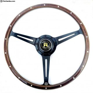 Stealth Black Split Bus Wolfsburg steering wheel