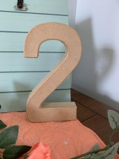 Brand new! Cardboard #2. Stand 8 inches tall. Letter Shop brand.