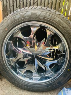 Tires with Chrome Rims